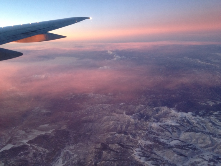 Aerial view of the Rockies