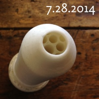 Image of 3-D printed laminar flow nozzle.