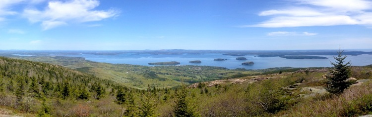 View from the top of Cadillac Mountain, Acadia.