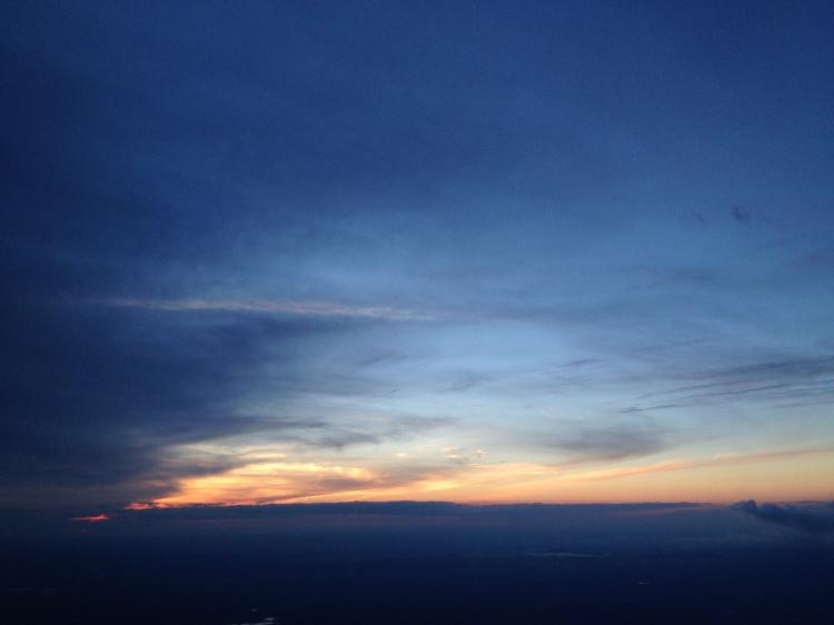 Sunset on the flight back to Boston.