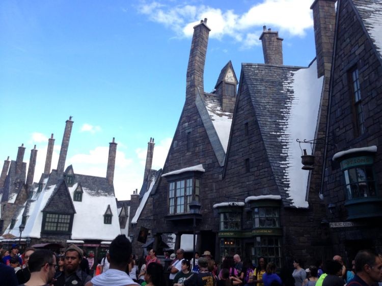 The rooftops of Hogsmeade at Universal's Harry Potter park.